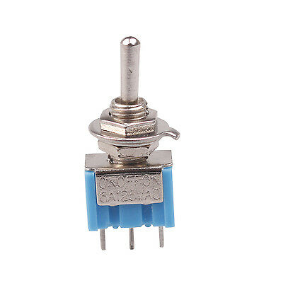 New 5 Pcs SPDT ON/OFF/ON 3 Position Mini Toggle Switch AC 125V 6A