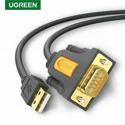 Ugreen 2M USB 2.0 to Serial RS232 DB9 9Pin PL2303 Cable Adapter Converter New