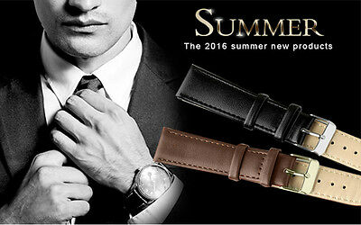 NEW Stainless Steel Buckle Watch Strap Leather Band Length Long 12.5cm