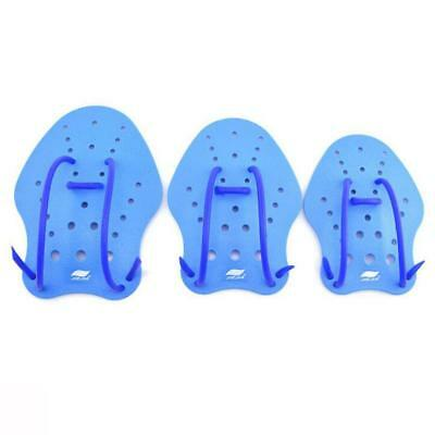 Swim Training Gear Webbed Hand Gloves Paddles Swimming Aid Blue - 3 Size