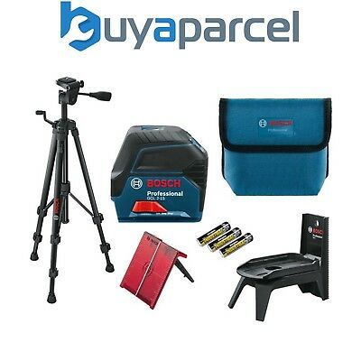 Bosch GCL215 Self Levelling Combi Cross Line Laser Level +RM1 Bracket + Tripod
