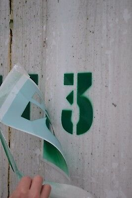 Industrial Stencils - Number Pack 0-9 - REUSEABLE - DIY Signs - Safety Sign