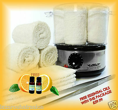 Beauty Therapist Treatment Towel Steamer Set With Free Essential Oils