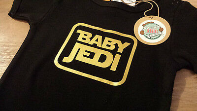Star Wars BABY JEDI Romper , Cotton one-piece, Custom printed
