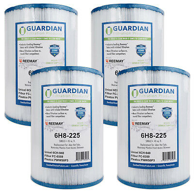 4 PACK FILTER Fits: Unicel 6CH-940, Pleatco PWW50P3 ,FC-0359 SPA POOL FILTER
