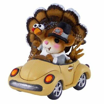 Wee Forest Folk Honk For Thanksgiving Mouse Figurine