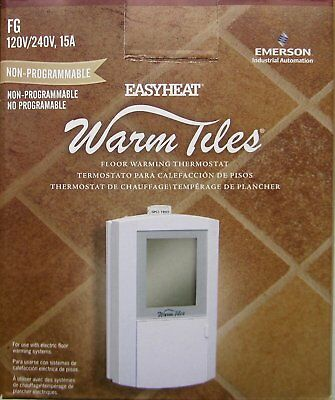 Easy Heat Dual Voltage Compact Non-Programmable Thermostat