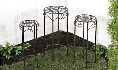 Giftcraft - Nested Round Plant Stands - Set of 3