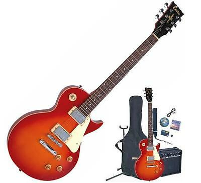 ENCORE E99 Electric Guitar/Amp Package with All accessories Cherry Sunburst