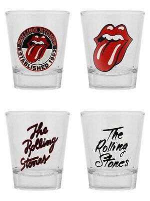 The Rolling Stones Set Of 4 Shot Glass