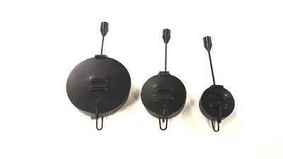 3 x Assorted Black Metal Bait Droppers. Ideal for carp and coarse fishing.