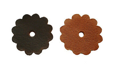 Saddle Rosettes Concho 100% Genuine Full Grain Leather Conchos w/hole