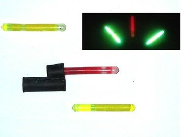 9 Chemical Snap Night Lights (red + green) with Holder For Sea or Coarse Fishing