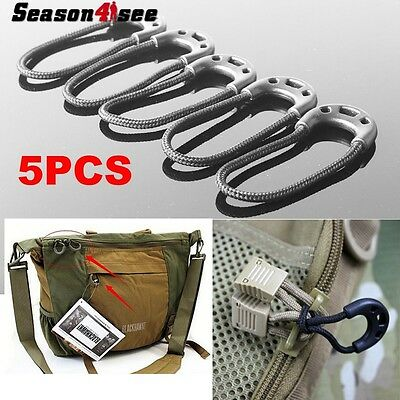 5 Pcs Anti-theft Cord Zipper Rope Pull Strap Lariat apparel Backpack Accessories