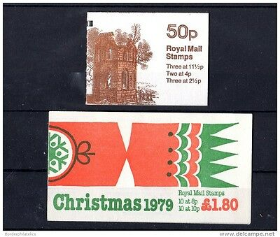 """GB 1979/81 Christmas Booklet FX"""" and Mugcock Castle Booklet FB176 Mint X2887"""