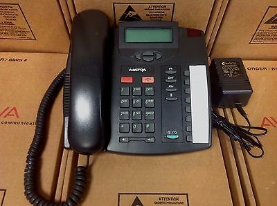 AASTRA Telecom Charcoal 9112i SIP Telephone W/ handset & stand and Power adapter