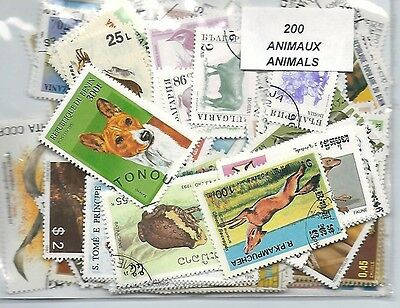 ANIMAUX 200 timbres différents