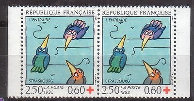 France 1992 Red Cross Mnh
