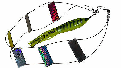 Heavy Duty Stainless Steel Holographic & Mirror Ladder Flasher for Spearfishing