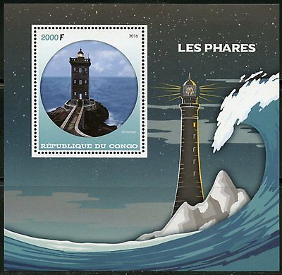 Congo  2016 Lighthouses  Set Of Two  Souvenir Sheets   Mint Never Hinged