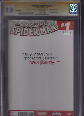 Marvel Comic The Amazing Spider Man #1 Signature Series Cgc 9.8 John Romita Sr.