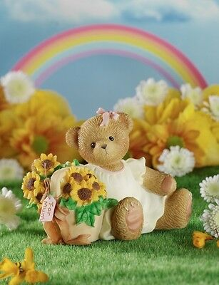 The Beauty of Mum's Love Blooms Forever Cherished Teddies Teddy Bear Figurine