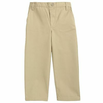 French Toast Toddler -Size 7 Boys Khaki & Navy Flat Front Pull On Pant