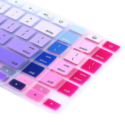 "Rainbow Silicone Keyboard Case Skin Cover For Apple Macbook Pro 13"" iMac Retina"