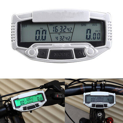 New Digital Wired Bicycle Cycle Computer Bike Speedometer Odometer+Lcd Backlight