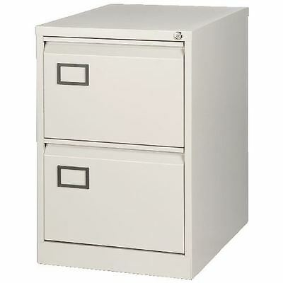 Bisley AOC2 711x470x622mm Flush Front Filing Cabinet with 2 Drawers - Goose Grey