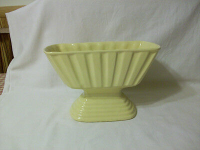 Vintage Old Brush Pottery Planter - Very Old, Yellow, Large, and Nice !