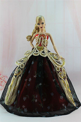 Gorgeous Princess Party Dress/Clothes Wedding Gown For 11.5in.Doll N04