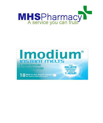Imodium Instant Melts x 18 Stops Diarrhea within One Hour Fast Action Loperamide