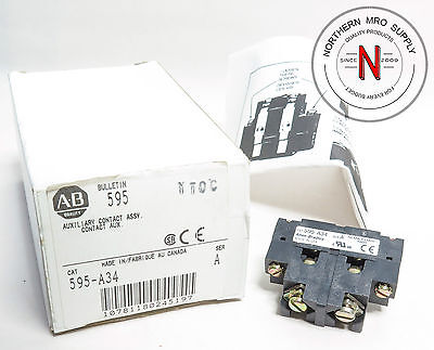 Allen Bradley 595-A34 Auxiliary Contact, N.o.