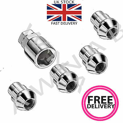 M14 x 2.0 19mm Hex Alloy Wheel Locking Nuts for Ford Transit. Set of Lockers
