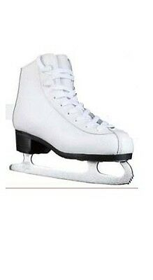 New DR FS25 girl's ice figure skates child junior youth pic white size 10 girl
