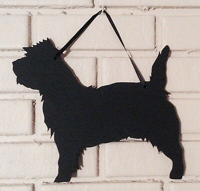 Cairn Terrier Chalkboard w/chalk and Felt Dog Hanging Decor Great Gift Idea