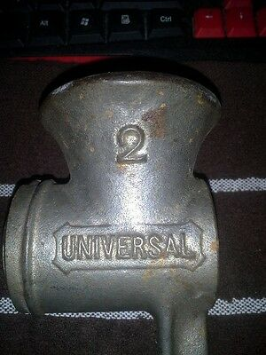 Vintage Universal #2 meat grinder Body only Original Antique Collectible Parts