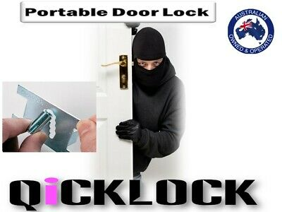Qicklock-Portable Security Door Lock- Safety-Travel Lock Hotel Hardware 2 Pack