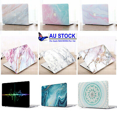 Marble Paint Laptop Hard Case +KB Cover for Macbook Pro13 15 Air 11 13 12 inch