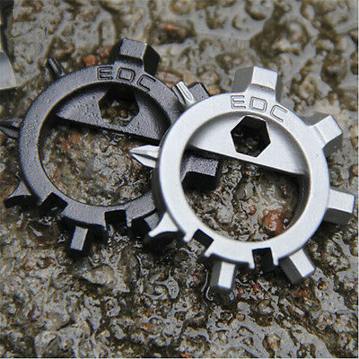 EDC Stainless Steel Multi Tool Bicycle Bike Repair Screwdriver Opener Keychain Z