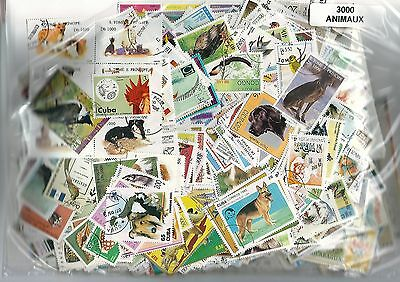 ANIMAUX 3000 timbres différents