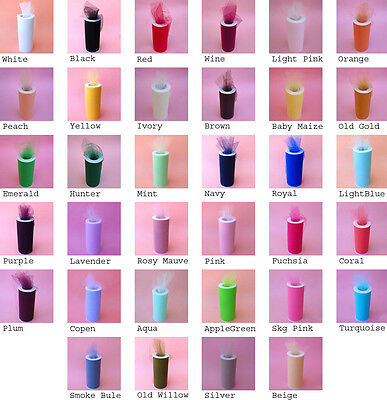 "3""X25yds Tulle Spool Wedding Bridal Party Favor Fabric Decoration Tutu Crafts"