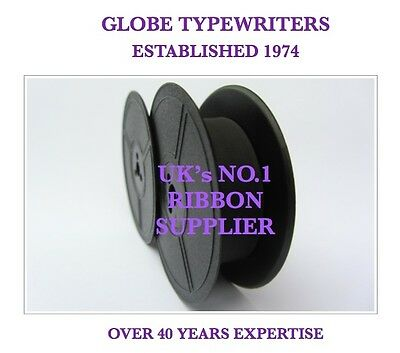 1 x 'REMINGTON REPORTER' *PURPLE* TYPEWRITER RIBBON* MANUAL REWIND+INSTRUCTIONS