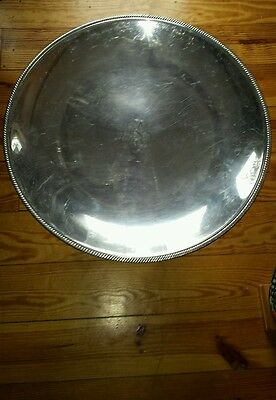 "BEAUTIFUL Huge antique 17.5"" Silver Plate Tray 'Castleton' International Silver"