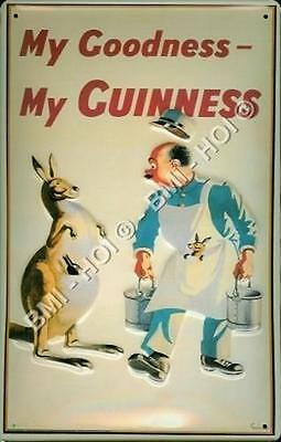 "Guinness Kangaroo My Goodness on metal sign 12"" x 8"" inches - IMMEDIATE SHIPMENT"