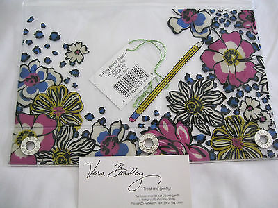 Vera Bradley AFRICAN VIOLET Pencil PEN Pouch for BACKPACK Tote SCHOOL Art PURPLE
