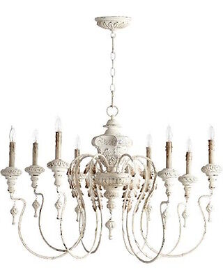 Horchow Aidan Gray Look French Vintage 8 light Gorgeous Beaded Chandelier