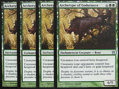 XXX 4x ARCHETYPE OF ENDURANCE englisch born of the gods (hexproof green) NM/M