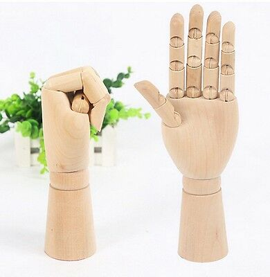 Right Hand Body Artist Model Jointed Articulated Wood Sculpture Mannequin Wooden